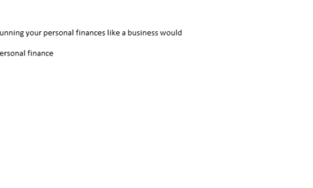 Running Your Personal Finance Like A Business Would